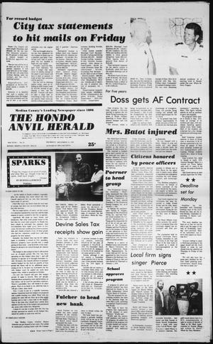 Primary view of object titled 'The Hondo Anvil Herald (Hondo, Tex.), Vol. 94, No. 51, Ed. 1 Thursday, December 18, 1980'.