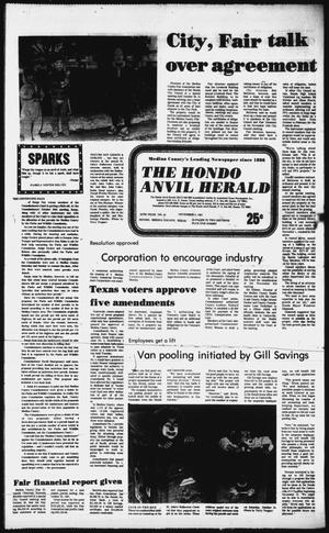 Primary view of object titled 'The Hondo Anvil Herald (Hondo, Tex.), Vol. 95, No. 44, Ed. 1 Thursday, November 5, 1981'.
