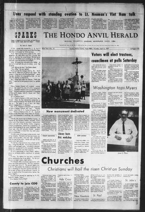Primary view of object titled 'The Hondo Anvil Herald (Hondo, Tex.), Vol. 82, No. 14, Ed. 1 Thursday, April 3, 1969'.