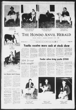 Primary view of object titled 'The Hondo Anvil Herald (Hondo, Tex.), Vol. 83, No. 7, Ed. 1 Thursday, February 6, 1969'.
