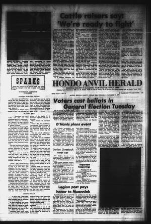Primary view of object titled 'Hondo Anvil Herald (Hondo, Tex.), Vol. 86, No. 44, Ed. 1 Thursday, October 31, 1974'.