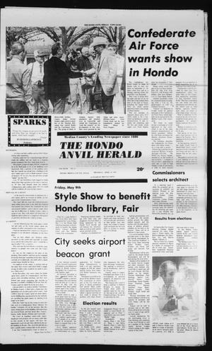Primary view of object titled 'The Hondo Anvil Herald (Hondo, Tex.), Vol. 94, No. 15, Ed. 1 Thursday, April 10, 1980'.