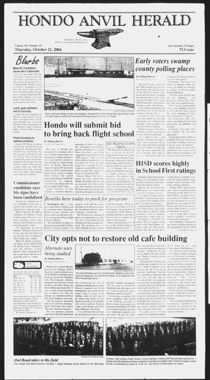 Primary view of object titled 'Hondo Anvil Herald (Hondo, Tex.), Vol. 118, No. 43, Ed. 1 Thursday, October 21, 2004'.