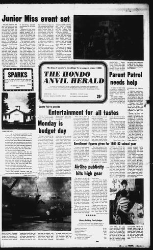 Primary view of object titled 'The Hondo Anvil Herald (Hondo, Tex.), Vol. 95, No. 35, Ed. 1 Thursday, August 27, 1981'.