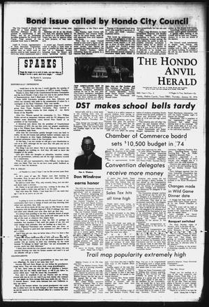 Primary view of object titled 'The Hondo Anvil Herald (Hondo, Tex.), Vol. 86, No. 2, Ed. 1 Thursday, January 10, 1974'.