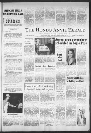 Primary view of object titled 'The Hondo Anvil Herald (Hondo, Tex.), Vol. 83, No. 48, Ed. 1 Thursday, November 26, 1970'.