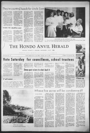 Primary view of object titled 'The Hondo Anvil Herald (Hondo, Tex.), Vol. 83, No. 14, Ed. 1 Thursday, April 2, 1970'.