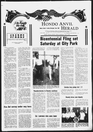 Primary view of object titled 'Hondo Anvil Herald (Hondo, Tex.), Vol. 87, No. 27, Ed. 1 Thursday, July 3, 1975'.
