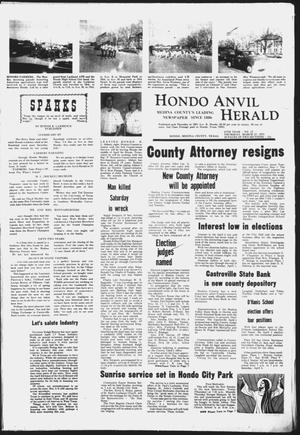 Primary view of object titled 'Hondo Anvil Herald (Hondo, Tex.), Vol. 87, No. 13, Ed. 1 Thursday, March 27, 1975'.
