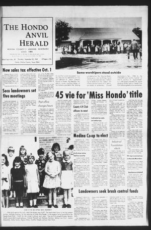 Primary view of object titled 'The Hondo Anvil Herald (Hondo, Tex.), Vol. 82, No. 39, Ed. 1 Thursday, September 25, 1969'.