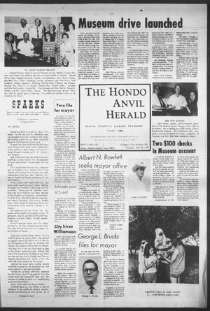 Primary view of object titled 'The Hondo Anvil Herald (Hondo, Tex.), Vol. 83, No. 25, Ed. 1 Thursday, June 18, 1970'.