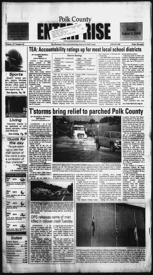 Primary view of object titled 'Polk County Enterprise (Livingston, Tex.), Vol. 127, No. 62, Ed. 1 Sunday, August 2, 2009'.