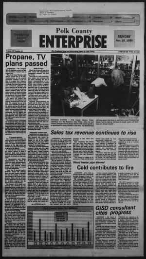 Primary view of object titled 'Polk County Enterprise (Livingston, Tex.), Vol. 107, No. 93, Ed. 1 Sunday, November 19, 1989'.