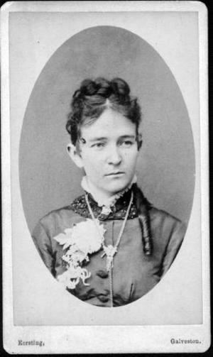 Primary view of object titled '[Photograph of Lizzie Lamar George]'.