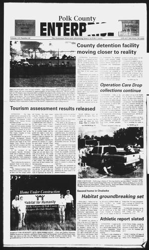 Primary view of object titled 'Polk County Enterprise (Livingston, Tex.), Vol. 122, No. 60, Ed. 1 Sunday, July 25, 2004'.