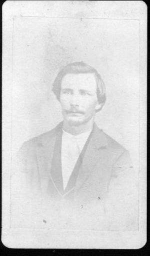 Primary view of [Albert Lamar George wearing a light colored jacket, dark vest and white shirt]