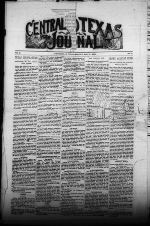 Primary view of object titled 'Central Texas Journal (Stephenville, Tex.), Vol. 2, No. 11, Ed. 1 Wednesday, April 5, 1893'.