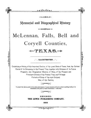 Primary view of object titled 'A Memorial and Biographical History of McLennan, Falls, Bell and Coryell Counties, Texas.'.