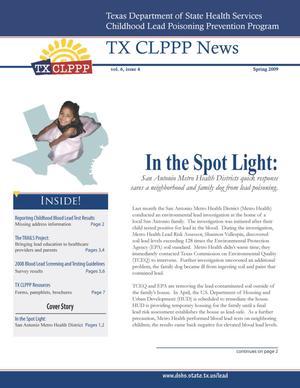 TX CLPPP News, Volume 6, Number 4, Spring 2009