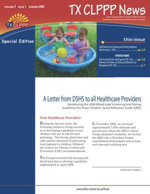 TX CLPPP News, Volume 7, Number 1, Summer 2009