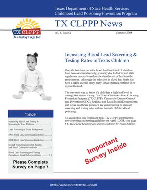 TX CLPPP News, Volume 6, Number 2, Summer 2008
