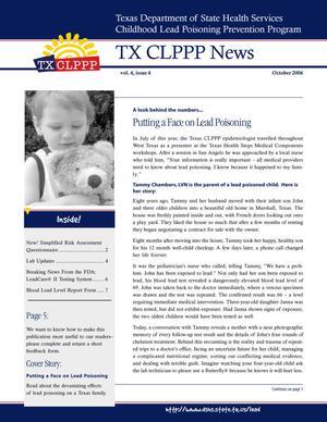 TX CLPPP News, Volume 4, Number 4, October 2006