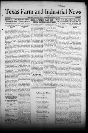 Primary view of object titled 'Texas Farm and Industrial News (Sugar Land, Tex.), Vol. 8, No. 8, Ed. 1 Friday, December 12, 1919'.