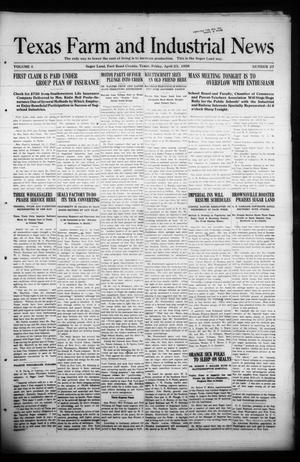 Primary view of object titled 'Texas Farm and Industrial News (Sugar Land, Tex.), Vol. 8, No. 27, Ed. 1 Friday, April 23, 1920'.