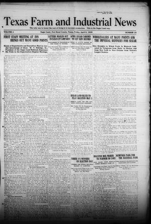 Primary view of object titled 'Texas Farm and Industrial News (Sugar Land, Tex.), Vol. 8, No. 25, Ed. 1 Friday, April 9, 1920'.