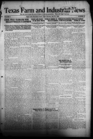 Primary view of object titled 'Texas Farm and Industrial News (Sugar Land, Tex.), Vol. 8, No. 31, Ed. 1 Saturday, May 22, 1920'.