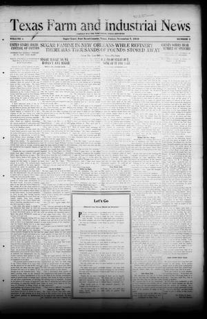 Primary view of object titled 'Texas Farm and Industrial News (Sugar Land, Tex.), Vol. 8, No. 3, Ed. 1 Friday, November 7, 1919'.