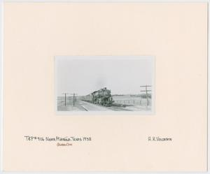 Primary view of object titled '[Train Engine #906 and Cars]'.