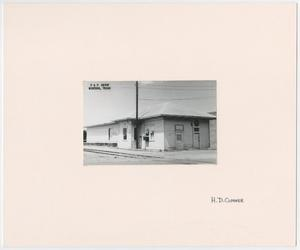 Primary view of object titled '[Train Depot in Winters, Texas]'.