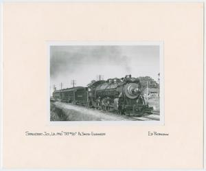 Primary view of object titled '[Train Engine #701 and Cars - Shreveport Junction, Louisiana]'.