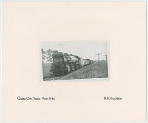 Primary view of object titled '[Train Engine #667 and Cars]'.