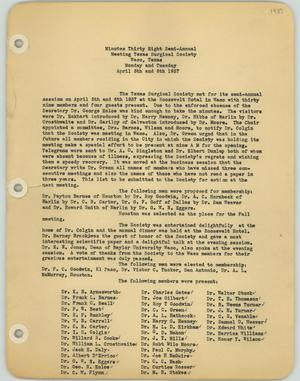 [Texas Surgical Society Minutes: April 5, 1937]