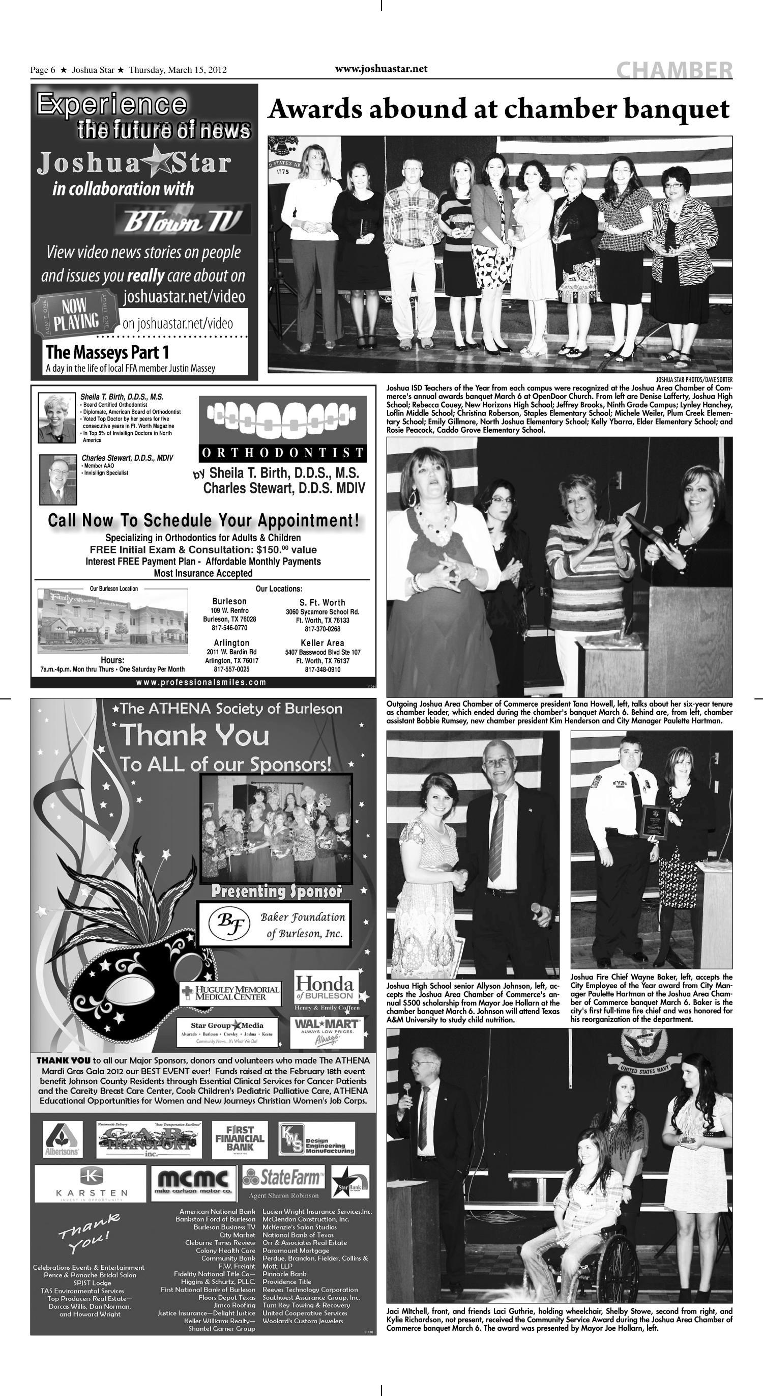 Joshua Star Tex Vol 41 No 50 Ed 1 Thursday March 15 2012