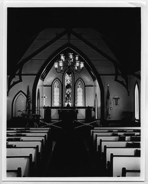 Primary view of object titled '[Interior of Grace Church]'.