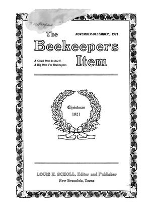 Primary view of object titled 'The Beekeeper's Item, Volume 5, Number 11-12, November-December 1921'.