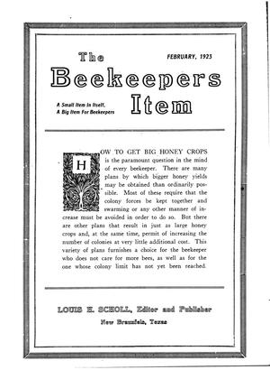 Primary view of object titled 'The Beekeeper's Item, Volume 7, Number 2, February 1923'.