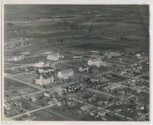 Primary view of object titled '[Aerial View of Southwestern University]'.