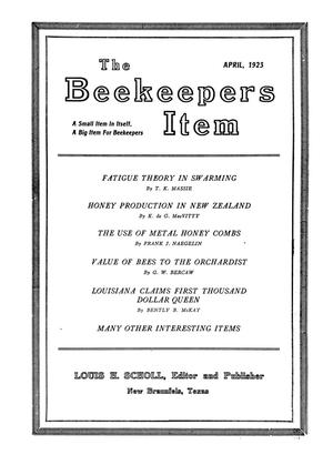 Primary view of object titled 'The Beekeeper's Item, Volume 7, Number 4, April 1923'.