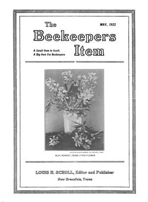 Primary view of object titled 'The Beekeeper's Item, Volume 6, Number 5, May 1922'.