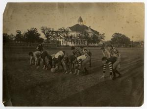 Primary view of object titled 'Football Players at Carlisle Military Academy in Arlington'.