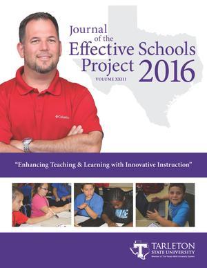 Journal of the Effective Schools Project, Volume 23, 2016