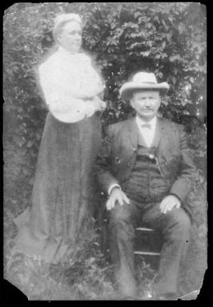 Primary view of object titled '[Photograph of Mr. And Mrs. J.H.P. Davis]'.