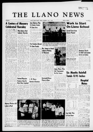Primary view of object titled 'The Llano News (Llano, Tex.), Vol. 71, No. 32, Ed. 1 Thursday, July 7, 1960'.