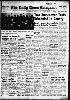 Primary view of object titled 'The Daily News-Telegram (Sulphur Springs, Tex.), Vol. 85, No. 247, Ed. 1 Sunday, October 20, 1963'.