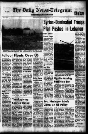 Primary view of object titled 'The Daily News-Telegram (Sulphur Springs, Tex.), Vol. 98, No. 276, Ed. 1 Sunday, November 21, 1976'.
