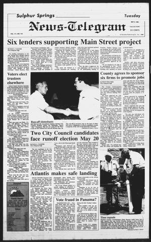 Primary view of object titled 'Sulphur Springs News-Telegram (Sulphur Springs, Tex.), Vol. 111, No. 110, Ed. 1 Tuesday, May 9, 1989'.